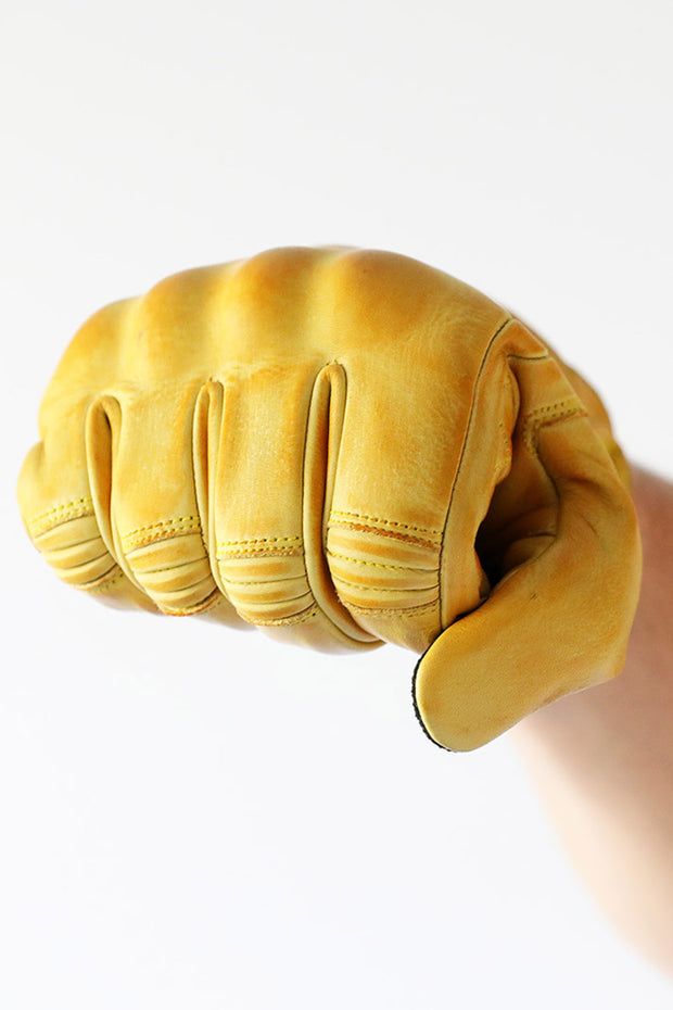 Liberta Moto Men's Cobra Yellow Leather Motorcycle Gloves at Moto Est. 3