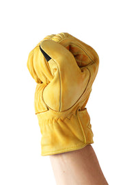 Liberta Moto Men's Cobra Yellow Leather Motorcycle Gloves at Moto Est. 4