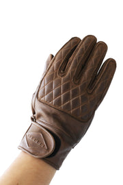 Liberta Moto Men's Kiwi Brown Leather Motorcycle Gloves at Moto Est. 1