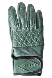 Liberta Moto Gear Women's Kiwi Green Leather Motorcycle Gloves 1
