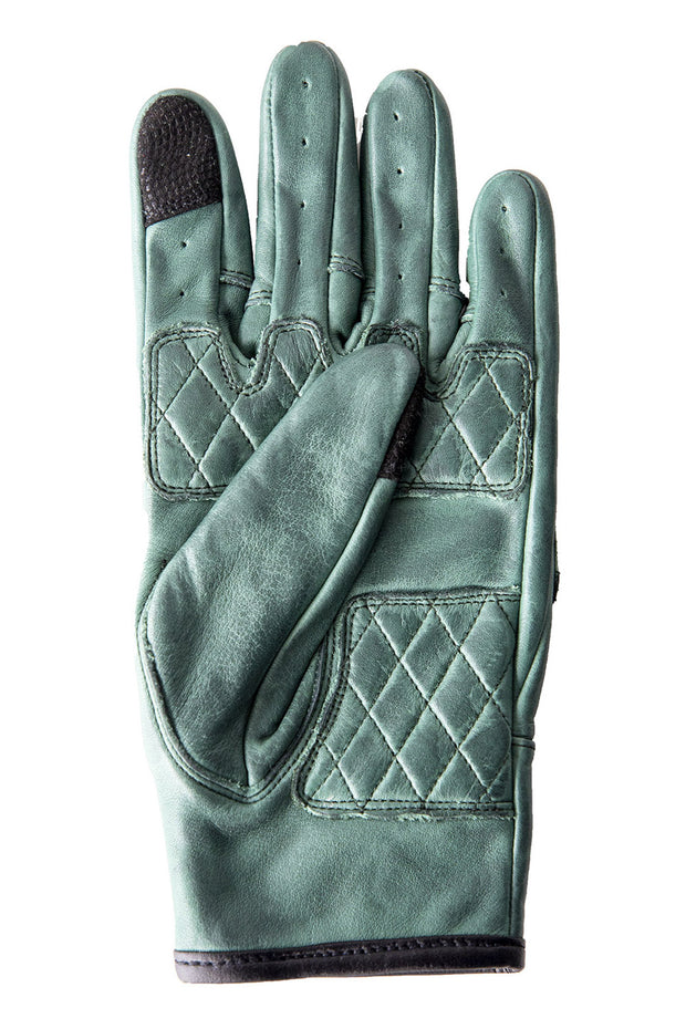 Liberta Moto Gear Women's Kiwi Green Leather Motorcycle Gloves 2
