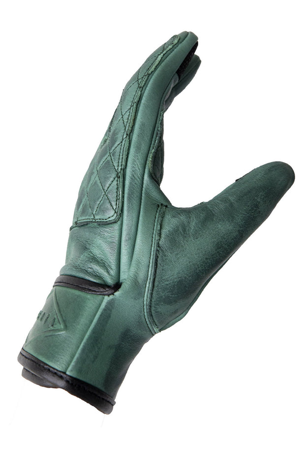 Liberta Moto Gear Women's Kiwi Green Leather Motorcycle Gloves 3