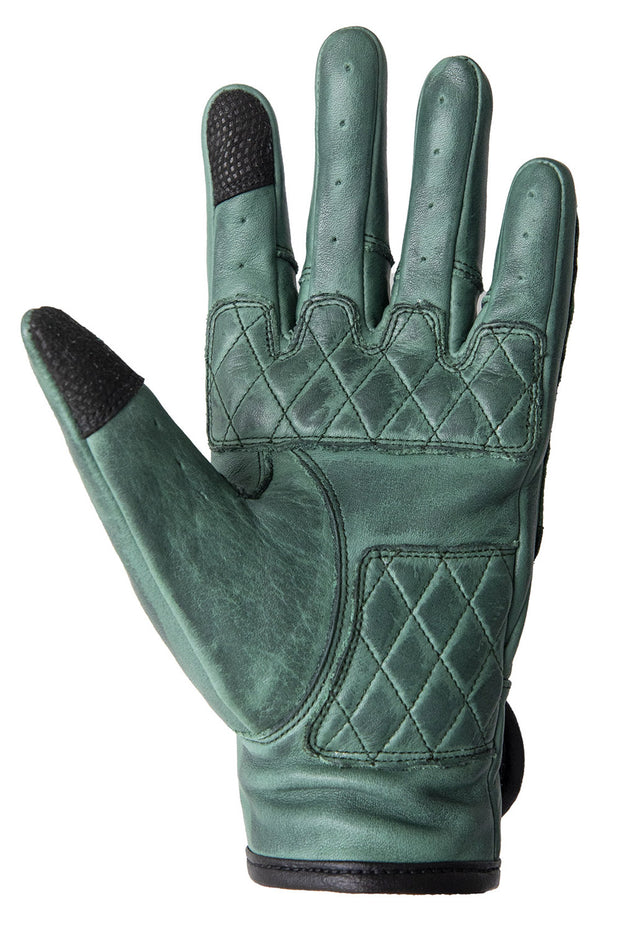 Liberta Moto Gear Women's Kiwi Green Leather Motorcycle Gloves 5