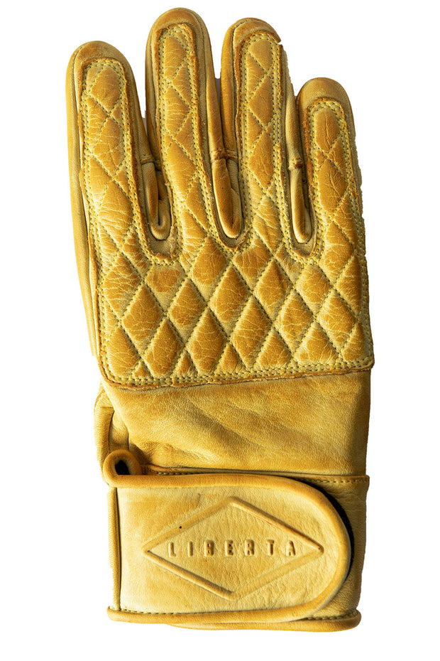 Liberta Moto Gear Women's Kiwi Yellow Leather Motorcycle Gloves 1