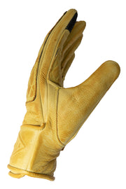 Liberta Moto Gear Women's Kiwi Yellow Leather Motorcycle Gloves 3