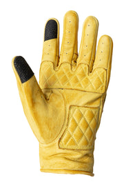 Liberta Moto Gear Women's Kiwi Yellow Leather Motorcycle Gloves 5