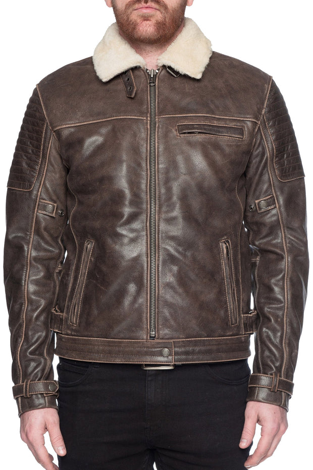 Black Arrow Label Night Hawk Men's Leather Motorcycle Jacket online at Moto Est. Australia