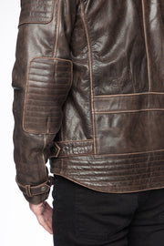 Buy the black arrow night hawk mens leather motorcycle jacket online at Moto Est. Australia 4