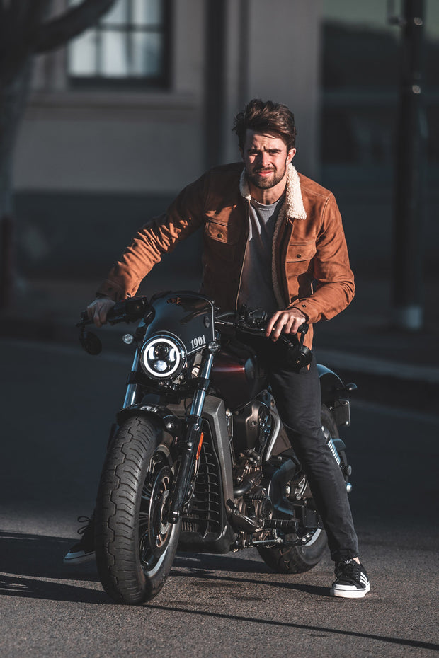 Blackbird Motorcycle Wear Byron Men's Nubuck Leather Motorcycle Jacket online at Moto Est. Australia 11