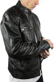 Buy the blackbird duke mens leather motorcycle jacket online at Moto Est. Australia