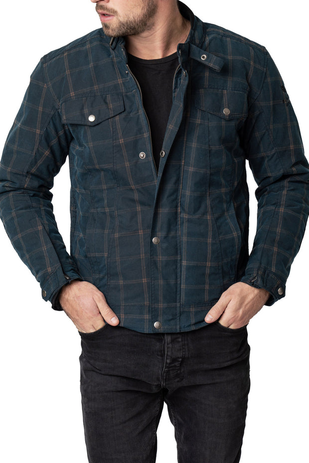 Blackbird Motorcycle Wear Knockhill Men's Waxed Cotton Motorcycle Jacket online at Moto Est. Australia