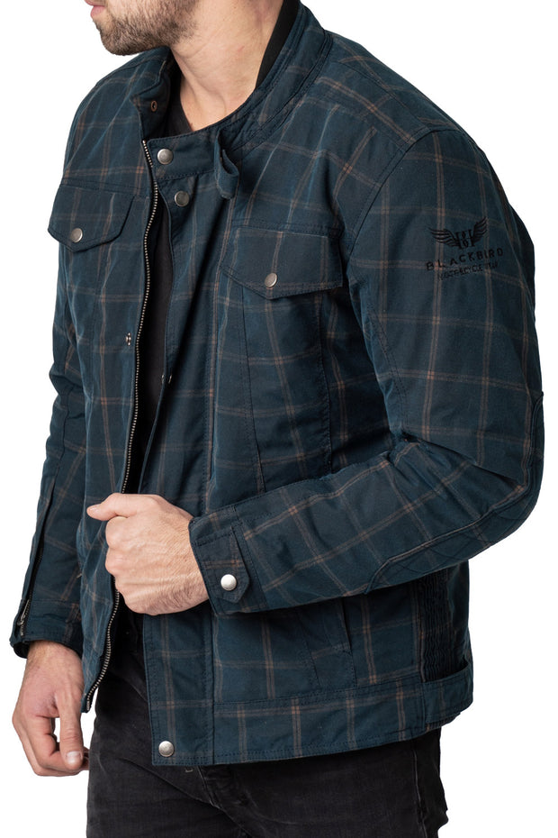 Buy the blackbird knockhill mens waxed cotton motorcycle jacket online at Moto Est. Australia 4