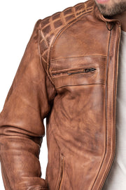Buy the blackbird pembrey mens leather motorcycle jacket online at Moto Est. Australia 3