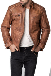 Buy the blackbird pembrey mens leather motorcycle jacket online at Moto Est. Australia 4