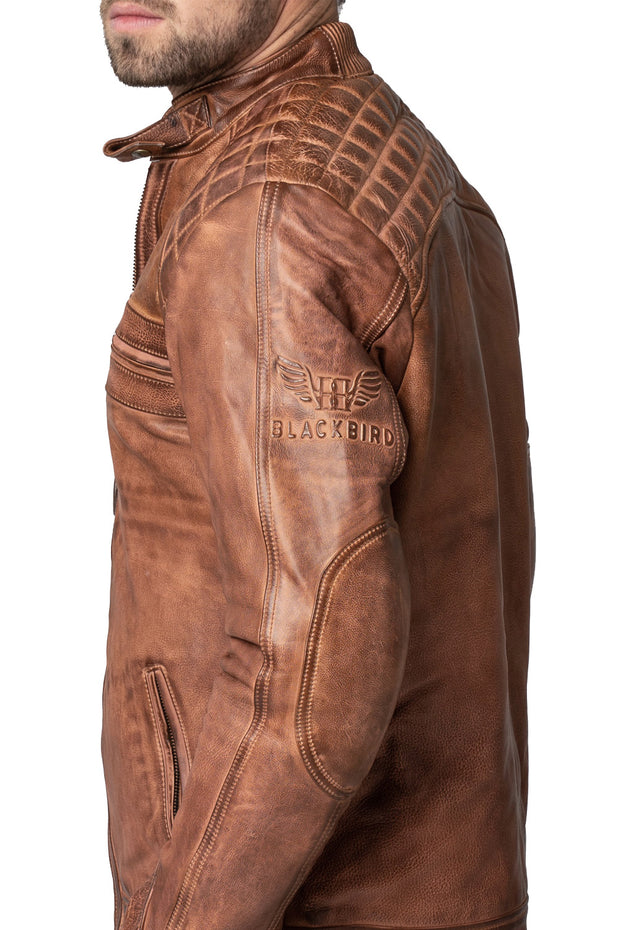 Buy the blackbird pembrey mens leather motorcycle jacket online at Moto Est. Australia 5