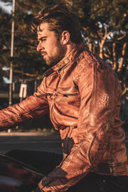 Blackbird Motorcycle Wear Pembrey Men's Leather Motorcycle Jacket online at Moto Est. Australia 1