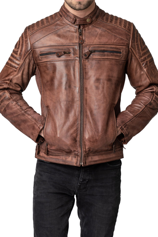 Blackbird Motorcycle Wear Wakefield Men's Leather Motorcycle Jacket online at Moto Est. Australia