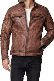Buy the blackbird wakefield mens leather motorcycle jacket online at Moto Est. Australia 3