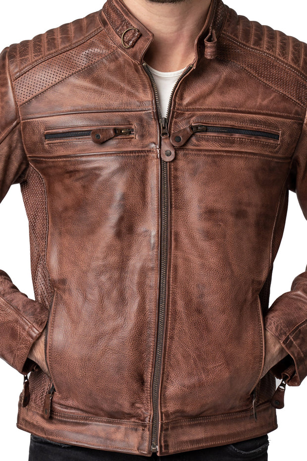 Buy the blackbird wakefield mens leather motorcycle jacket online at Moto Est. Australia 4