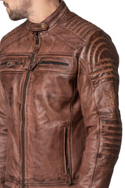 Buy the blackbird wakefield mens leather motorcycle jacket online at Moto Est. Australia 5