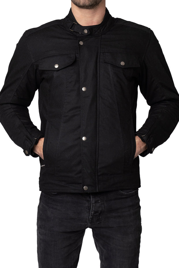 Blackbird Motorcycle Wear Winton Men's Waxed Cotton Motorcycle Jacket online at Moto Est. Australia