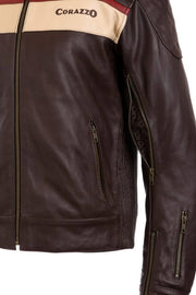Buy the corazzo mens corso leather motorcycle jacket online at Moto Est. Australia 5