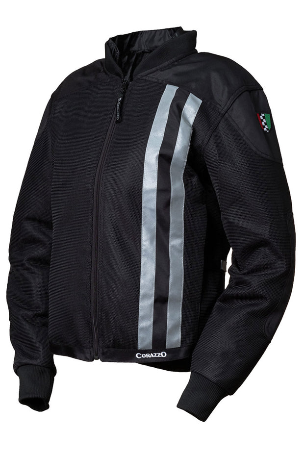Corazzo Design Ventata Men's Motorcycle Jacket in Black online at Moto Est. Australia