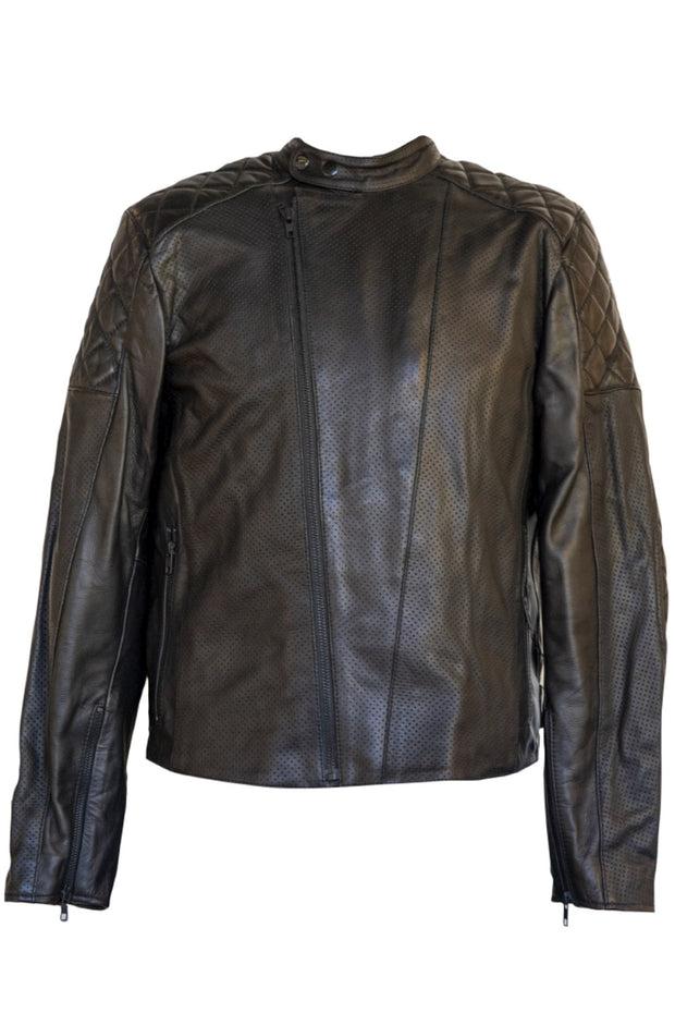 Liberta Moto Gear Men's Sugar Glider Black Leather Motorcycle Jacket 1