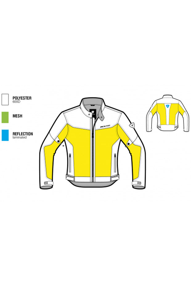 Buy the eclipse mens motorcycle jacket silver online at Moto Est. Australia 3
