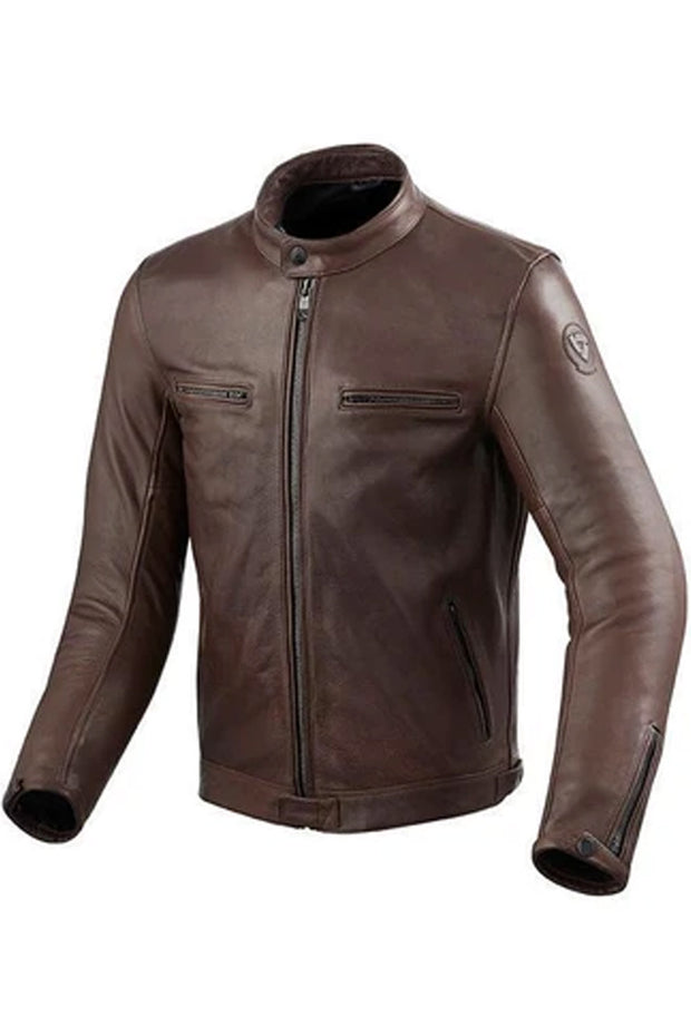REV'IT! Gibson Men's Leather Jacket in Brown online at Moto Est. Australia