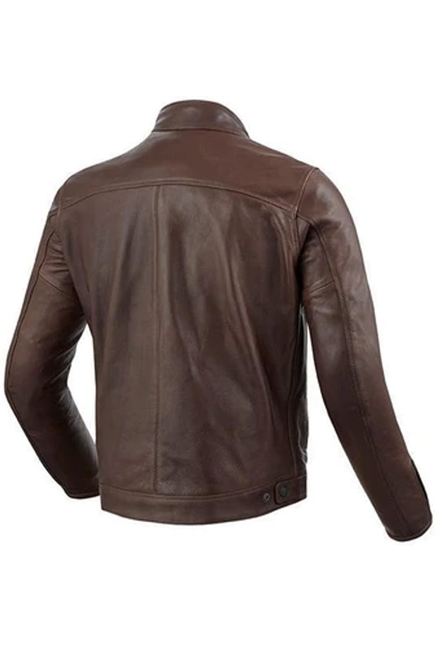 Buy the gibson mens leather jacket brown online at Moto Est. Australia