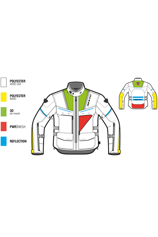 Buy the offtrack jacket silver blue online at Moto Est. Australia 3