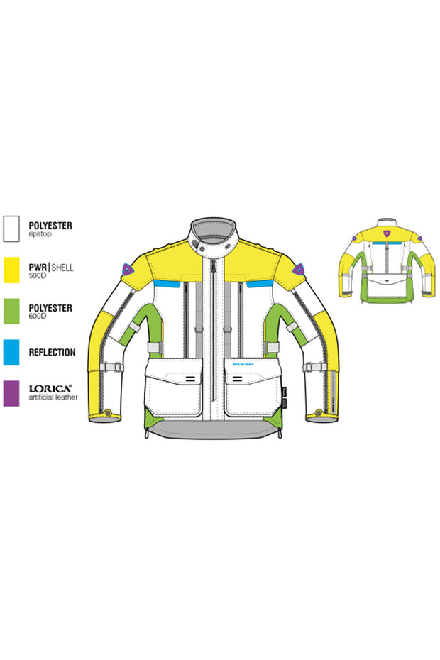 Buy the revit sand 3 mens jacket online at Moto Est. Australia 3