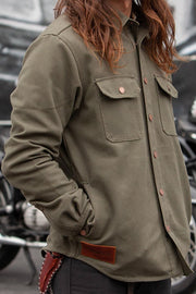 Men's California Canvas Motorcycle Shirt | Moss