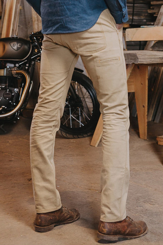Buy the tobacco mens journeymen canvas motorcycle pants sand online at Moto Est. Australia
