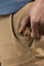 Buy the tobacco mens journeymen canvas motorcycle pants sand online at Moto Est. Australia 3