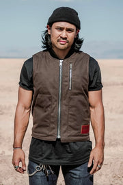 Buy the tobacco mens wasteland motorcycle vest brown online at Moto Est. Australia 5