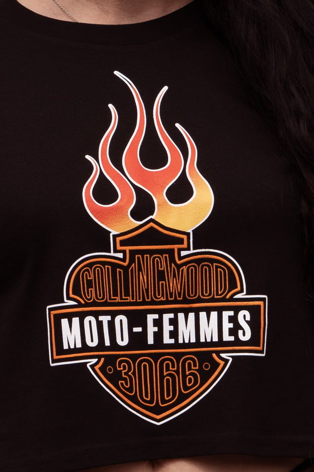Buy the moto femmes the mfing crop tee online at Moto Est. Australia 3