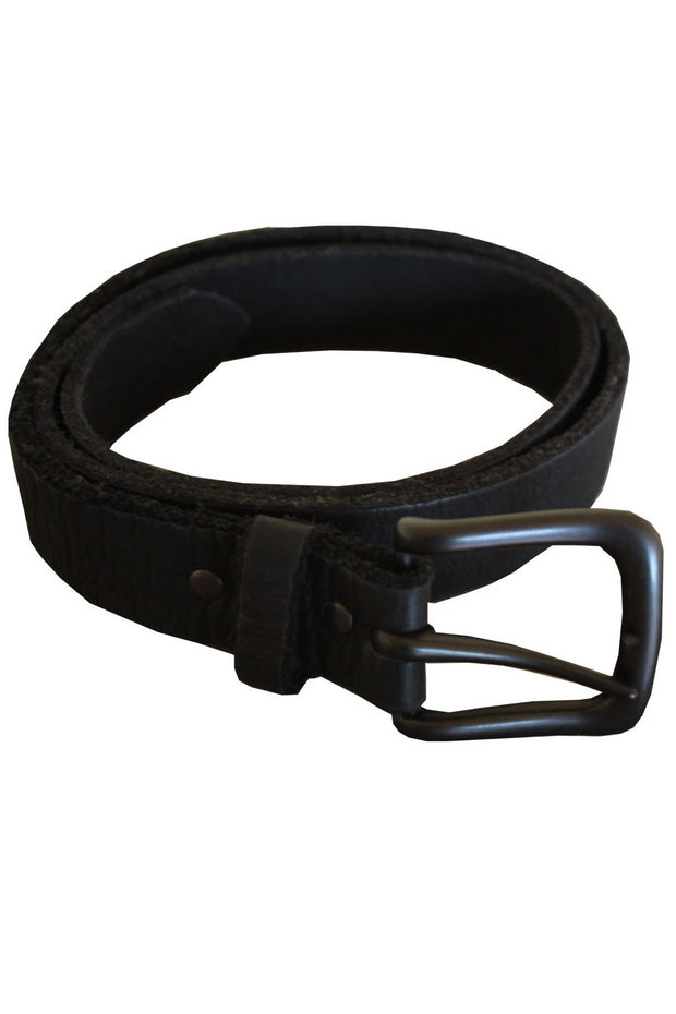 Moto Femmes Moto Femmes Logo Stonewashed Leather Belt in Black online at Moto Est. Australia