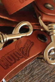 Buy the leather key fob online at Moto Est. Australia
