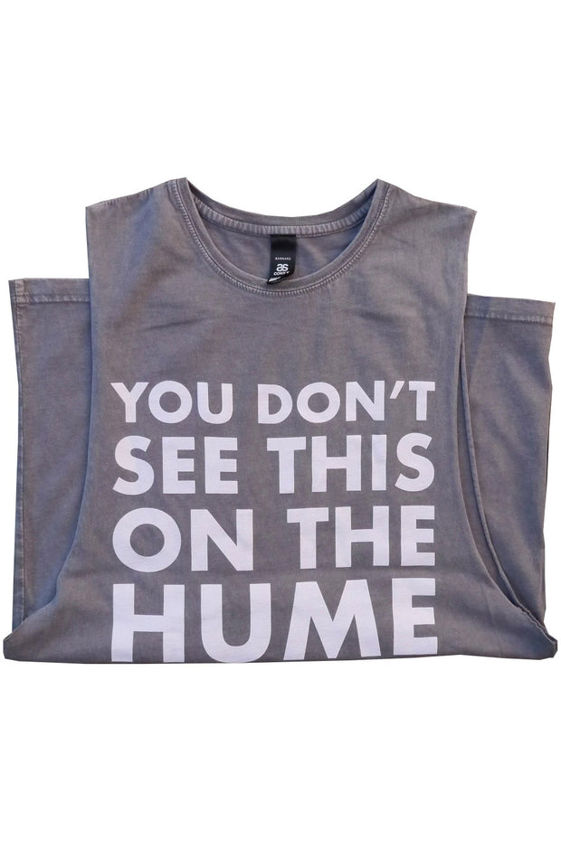 Buy the hume stonewash tank grey online at Moto Est. Australia