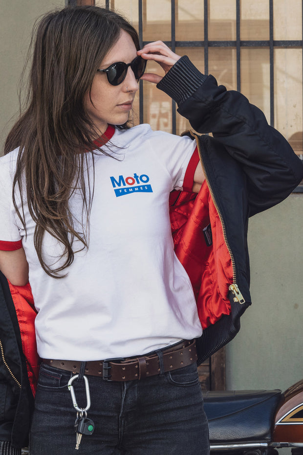 Buy the moto femmes gasoline tee online at Moto Est. Australia 4