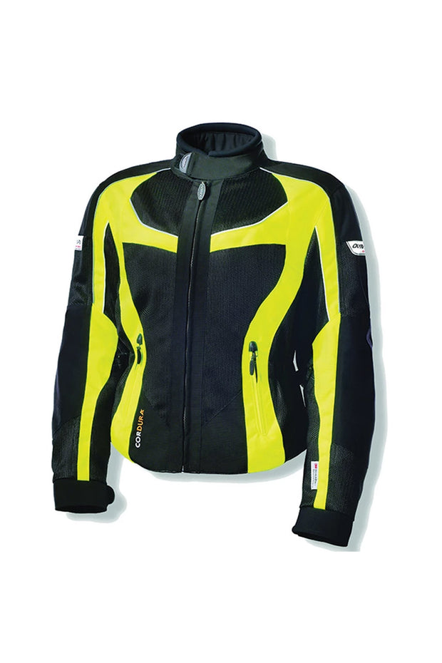Olympia Moto Sports Mesh Tech Switchback 2 Women's Motorcycle Jacket in Yellow online at Moto Est. Australia