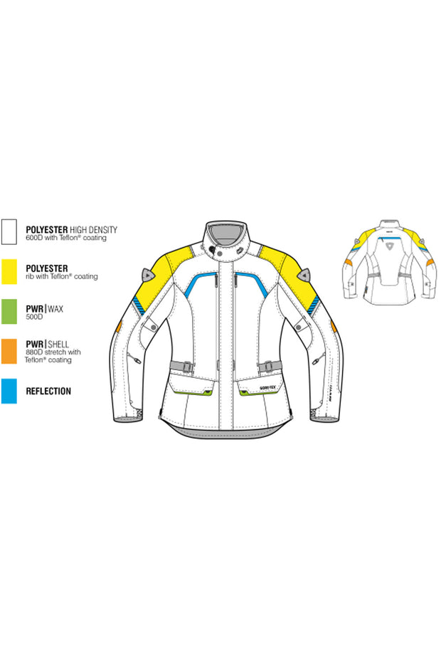 Buy the revit neptune gtx ladies motorcycle jacket online at Moto Est. Australia 3
