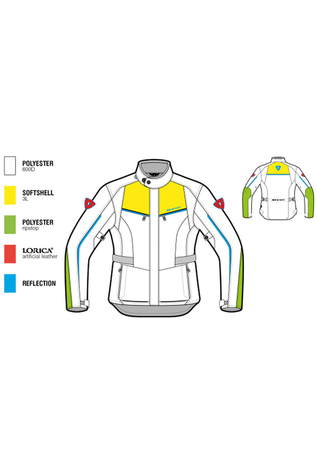 Buy the revit voltiac 2 ladies motorcycle jacket silver online at Moto Est. Australia 3