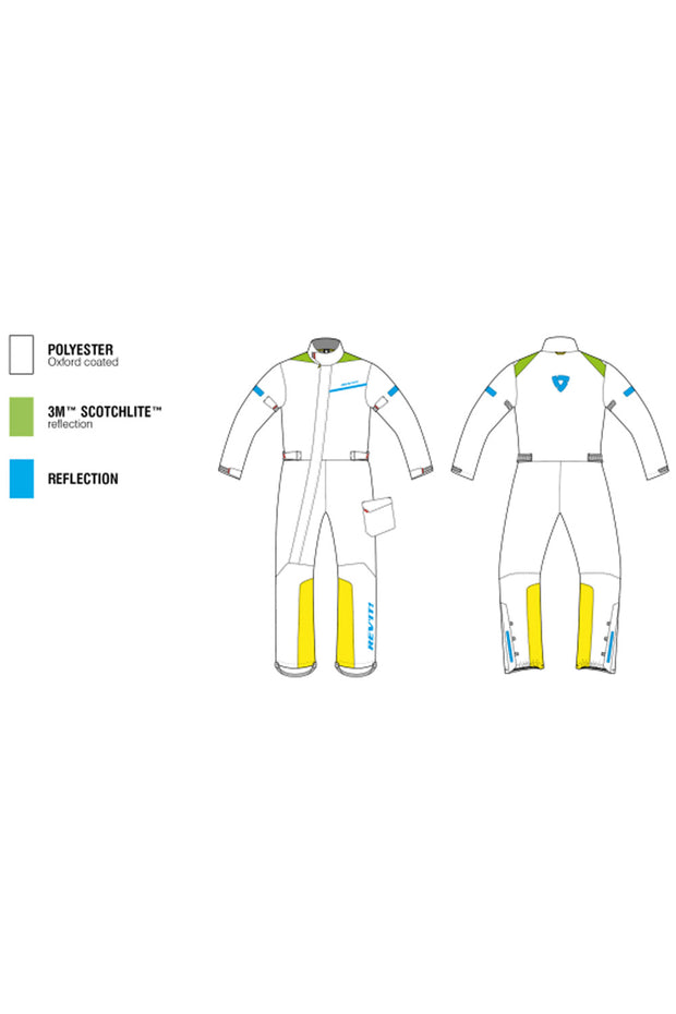 Buy the revit pacific 2 h20 rainsuit yellow online at Moto Est. Australia 3