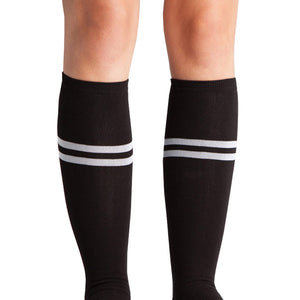 Sock It To Me Bad Ass Stretch-It Knee High Socks - Moto Femmes