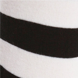Stretch-It Knee High Socks | Black & White Stripe