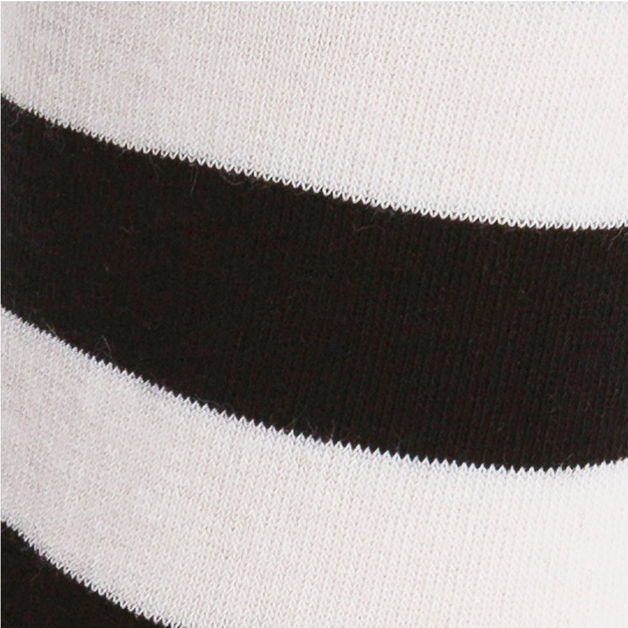 Sock It To Me Black & White Stripe Stretch-It Knee High Socks - Moto Femmes