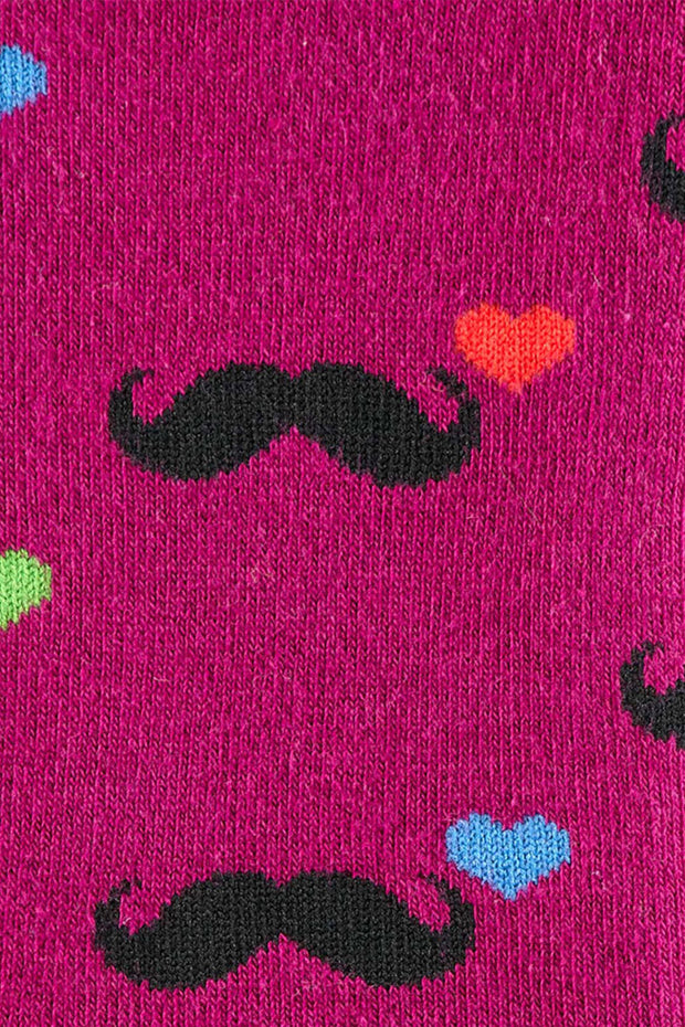 Buy the love moustaches crew socks online at Moto Est. Australia